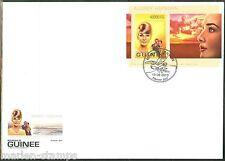 GUINEA 2013 20th MEMORIAL ANNIVERSARY OF AUDREY HEPBURN  SOUVENIR SHEET FDC