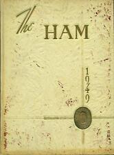 1949 SMITHFIELD HIGH SCHOOL YEARBOOK, THE HAM, SMITHFIELD, VA