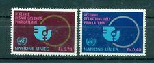 """Nations Unies Géneve 1980 - Michel n. 89/90 -  """"Décennie des Nations Unies pour"""