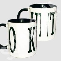 Black Novelty Rude mugs with Black slogan funny mug cup gift idea present