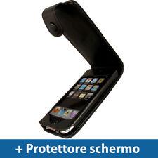 Nero Vera Pelle Custodia per Apple iPod Touch 2G 3G Gen Case Cover Protezione