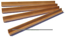 Set of 4 mAh Jong Tile Racks 3 Natural Wood and 1 Brown