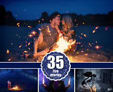 35 fire photo Overlays, flamers, fire sparks, night, lighter effect, jpg file