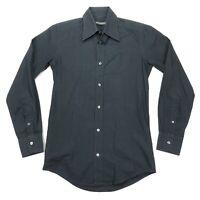 Dolce & Gabbana Men's Tailored Fit Button Front Dress Shirt Black • 15 | 38