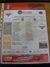 26/12/2012 Colour Teamsheet: Rotherham United v Port Vale. Thanks for viewing th