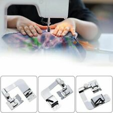 3pc set Domestic Sewing Machine Presser Foot Rolled Hem Feet for Brother Singers