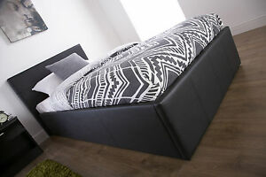 OTTOMAN BED 3FT 4FT 4FT6 5FT END LIFT, SIDE LIFT OR NO STORAGE - VARIOUS COLOURS