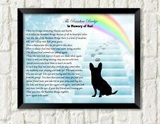 Dog Breed Memorial Poem Rainbow Bridge Dog Stairway to Heaven Personalized Print