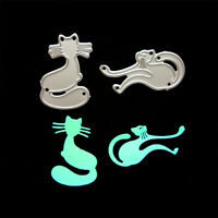 2pcs/set Lovely Cats Metal Cutting Dies for DIY Scrapbooking Albums Card Decor H