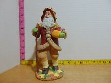 Sarah's Attic Santas Of The Month Harvest Santa Figurine With Box