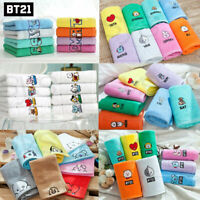 BTS BT21 Official Authentic Goods Bath Cotton Towel SET 6TYPE 40 x 80cm