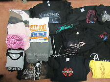 100x WHOLESALE GIRLS & YOUTH MUSIC BAND SHIRTS OSFA - 2XL STAIND U2 JOEL AC/DC