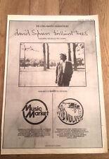 JAPAN David Sylvian Brilliant Trees 1984  Poster size Press ADVERT 16x12 inches