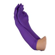 Ladies Long Gloves 43cm Purple Adult Fancy Dress Accessory