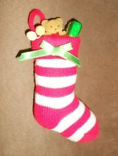 Knitted Stocking Full of Toys Christmas Holiday Ornament - Nice