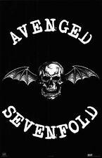 """AVENGED SEVENFOLD  Poster [Licensed-NEW-USA] 22.5x34"""" (Skull w/ Bat Wings Logo)"""