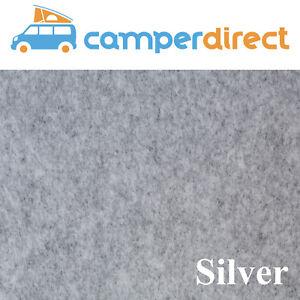 10 Sq Mtrs Silver Van Lining Carpet Kit 4 Way Stretch Inc 5 Tins High Temp Spray