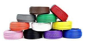 12 GA GAUGE 50 FT ROLLS PRIMARY AUTO REMOTE POWER GROUND WIRE CABLE (5 COLORS)