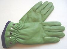 Key Lime Genuine Leather Driving Gloves, S/M