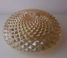 70s 70er Bubble Lamp MASSIVE amber glass crystal Plafoniere