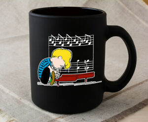 Peanuts Schroeder Musician Piano Funny Gift Black Coffee Mug Tea Cup Gift