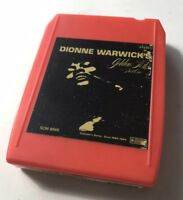 8 Track Tape Stereo Tape Cartridge Dionne Warwick's Golden Hits Part One