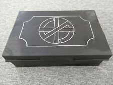 More details for lockable metal document box / tin trunk / storage box with key