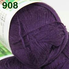 Sale 1 SkeinX50g Super Soft Baby Natural Smooth Bamboo Cotton Knitting Yarn 908
