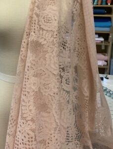Dusky Pink Lace Fabric/dress Fabric 3x metres of Lace Fabric/summer Fabric/