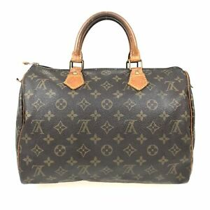 100% Authentic Louis Vuitton Monogram Speedy 30 Handbag M41526 [USED] {09-213B}