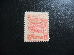 "Nicaragua 1897 1c Nicaragua Map Overprint ""Franqueo Oficial"". Mint Never Hinged."