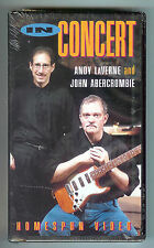 ANDY LAVERNE & JOHN ABERCROMBIE IN CONCERT 1995 / JAZZ PIANO & GUITAR / NEW VHS