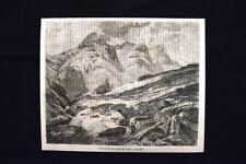 Veduta della gola di Glencoe nella Scozia Incisione del 1869