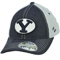 NCAA Zephyr Brigham Young Cougars Flex Fit Medium Large Hat Cap Curved Bill