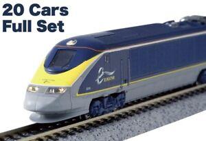 N Scale Model Railroad EuroStar Color E300 20Cars FullSet KATO 10-1297+10-1298*2
