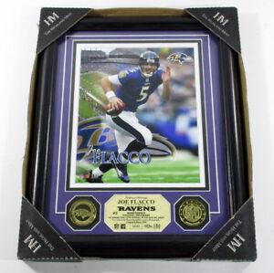 Joe Flacco Framed Display 8x10 Photo and 2 Coins Highland Mint Boxed DF025973