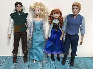 Disney Frozen Anna Elsa Kristoff Hans Plastic Figure Bundle
