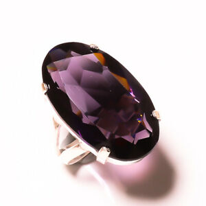 Gorgeous Purple Amethyst Gemstone 925 Sterling Silver Handmade Ring All Size