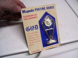 Vintage 70s nos Praying hands Highway Blessed auto dash gm street rat hot rod