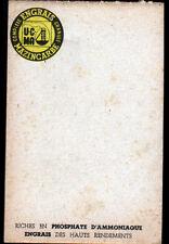 """MAZINGARBE (62) CARNET de NOTE miniature BISTRO / Publicité ENGRAIS """"MAZINCARBE"""""""