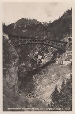 Postkarte - Mittenwaldbahn / Schlossbachbrücke mit Freiungspitze