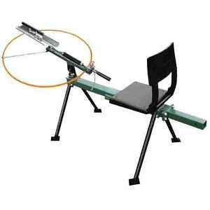 SEATED SINGLE ARM, FULL COCK, MANUAL CLAY PIGEON TRAP, CLAY THROWER, GREEN