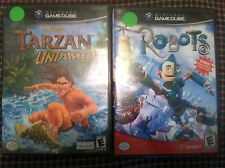 Two(2) Gamecube games Robots and Disney's Tarzan Untamed GC BOOKLET KID CHILDREN