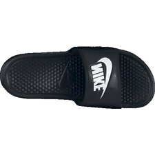 pretty nice 1858a 68352 Mens 9 Nike Benassi JDI Slides Sandals Slip Ons Black White 343880 Revise
