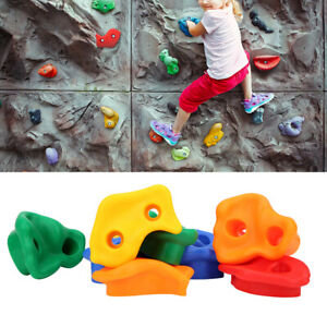 Children Rock Climbing Wall Holds Set Colorful Practical Playground Equipment