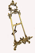 """Solid Brass Decorative Brass Easel 9"""" ~ Picture Stand New"""