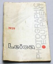 LEICA Magazine Photographic Equipment Catalogue Book Brochure Price List 1959