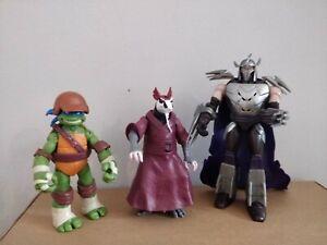 Teenage Mutant Ninja Turtles Figures - 2012 Shredder, Splinter and Leo (Viacom)