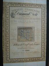 ACTION FRANCE SOC FRANCAISE DU DIAMANT NOIR SYSTEME TAVERDON 1883