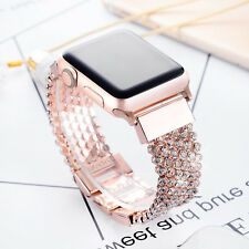 42/44mm Crystal Diamond Bracelet iWatch Band Apple Watch Series 1 2 3 4 RoseGold